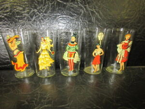 five1940s naughty girls two way bar glasses pinup cutie