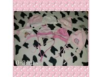 Girls hats 0-3mths
