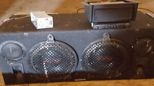 Old School Crunch CR104 Subs and equipment