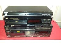 Technics separates - made in Japan + JVC CD player + Toshiba player 24 bit Audio DAC