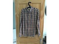 French Connection Men's Natural Check Shirt