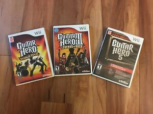 Wii Guitar Hero Set
