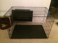 "XXL 48"" black metal dog cage"