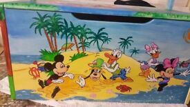 Mickey mouse handpainted toy box