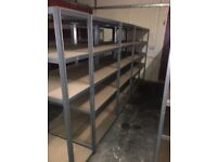 11 x warehouse storage racking on clearance @ just £40 each Bargain!!