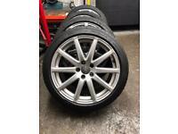"""Genuine Audi speedline 18"""" alloys and tyres"""