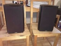 Insignia Model No. NS-B2111 Bookshelf Speaker Set 120 WATT POWERFUL and CHEAP