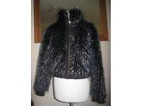 SUPER SEXY - Designer RINO&PELLE Faux Fur Winter Jacket Coat 12UK
