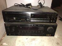 Pioneer 6 disc multi cd- sherwood audio receiver
