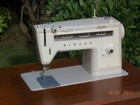 Electric Singer Sewing Machine and Table