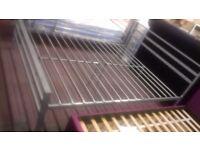 Ex showroom kingsize 5 ft metal bed frame in silver