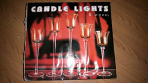 Candle lights 5 piece candle holder
