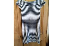 Ladies size 12 blue and cream short dress or top