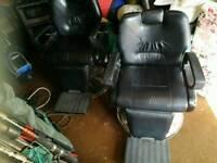 Barbers chairs x2