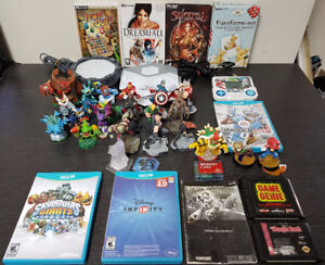 Le lot de jeux vidéo sur la photo pour 80$. Cliquez pour liste