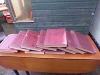 10 Volumes of The Great War Large Antique Books