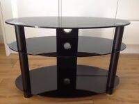 TV stand - black glass