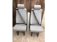 vw single inca seat with fitted seat belt and the unwin quick release mechanism and floor rails