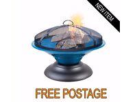 La Hacienda Moda Blue Garden Slate Firepit/Log Burner - More info 0161 220 1746
