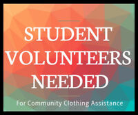 Student Volunteers Needed