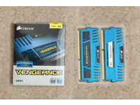 8 GB Corsair Vengeance DDR3 RAM Blue - 2x 4GB memory, 1600MHz, 1.5V