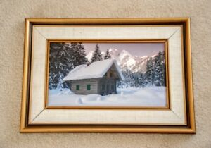 Custom Framed and Matted Alpine Photo