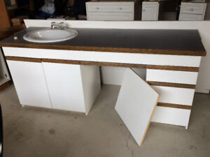 Large vanity c/w sink and fixture