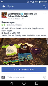Baby boy swim gear