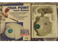 TRAK POINT - Trackerball for PC - Serial input required, boxed used but very good condition.