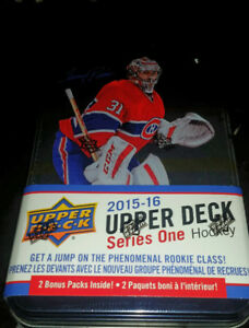 2015-16 Upper Deck Sealed Tin 12 packs Connor McDavid Young Guns