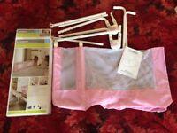 Lindam pink bed guard/rail