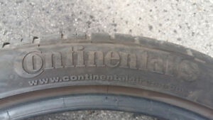 265-35-20 CONTINENTAL EXTREME DWS TUNED PERFORMANCE TIRES 2 ONLY