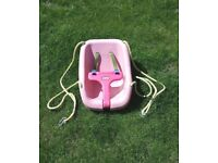 Little Tikes Snug 'n Secure Swing Baby Toddler Outdoor Swing Attachment Pink New