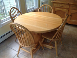 Solid oak set