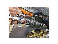 Honda Vfr 800 Vtec Twin Exhaust :SCORPION Carbon + link pipe