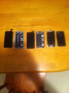 IPhone 5,5c and 4 and an ipod 5 for parts