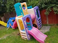 Little Tikes Tropical Playground Play Center Climbing Frame with Slide
