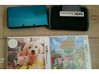 NINTENDO 3DS COMPLETE WITH 2 GAMES CHARGER AND CARRY CASE