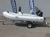 3.8m RIB WITH 15HP ELECTRIC START OUTBOARD MOTOR COMPLETE WITH CONSOLE
