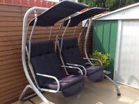 Garden swing chair set