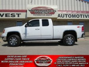 2009 GMC SIERRA 2500HD SLT DURAMAX  Z71 4X4, LEATHER, LOADED,1-O