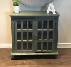 MOVING- Accent Green Cabinet - Must Go ASAP