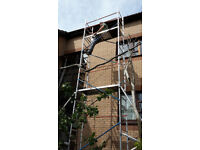 7.2 Metre Scaffold Tower with 4 outriggers and two platforms