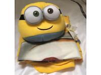 Minion Cushion And Blanket