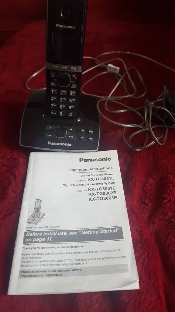 Panasonic cordless phonein Washington, Tyne and WearGumtree - Panasonic cordless phone answer machine. Nothing wrong with it.. instructions included