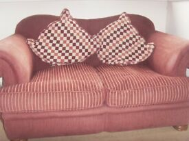 Sofa and footstool / pouffe