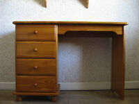 Solid Pine Desk/Dressing Table