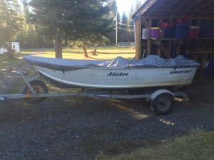 15' aluminium boat and motor for sale