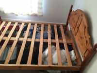 Wooden double bed frame (broken section)