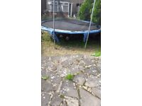 12ft old trampolines. Well for medium weight users. all metal frames in good condition